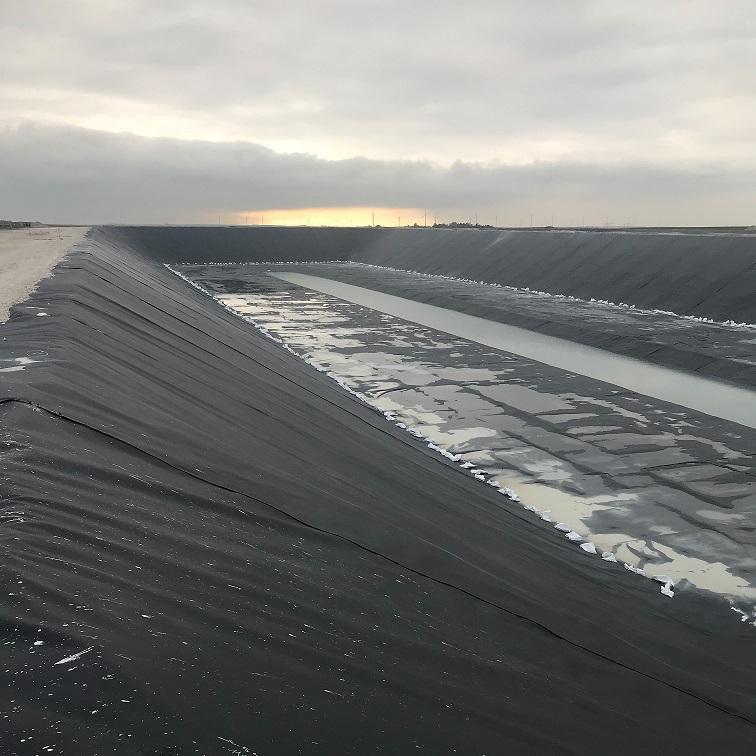 Bassin de stockage - bassin sucrier en phase finale